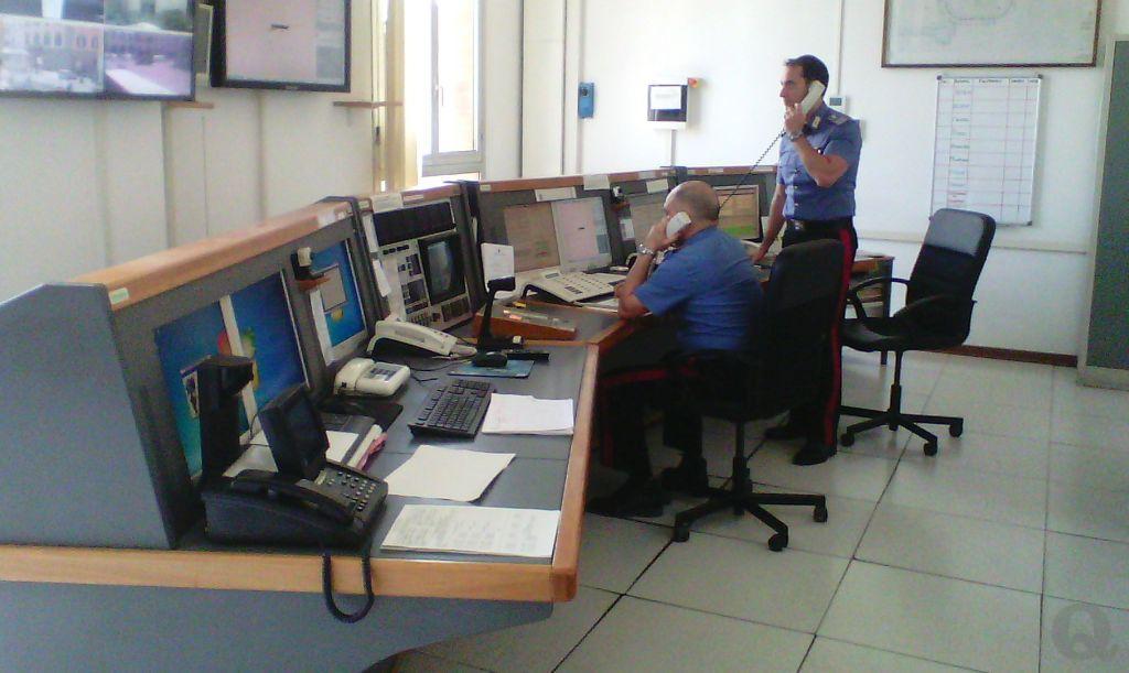 La centrale operativa del 112 dei carabinieri