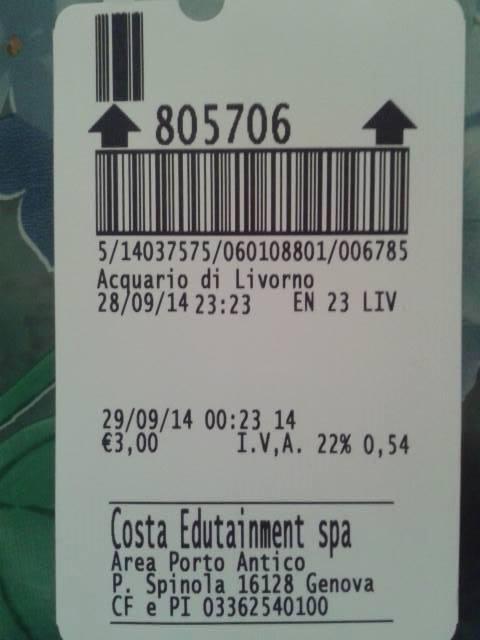 tre euro di parcheggio per un'ora all'acquario - quilivorno.it