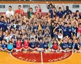 Nella foto il gruppo dei bambini MiniBasket presenti alla festa d'inizio corsi dello scorso 15 settembre (foto di A.Trifiletti)