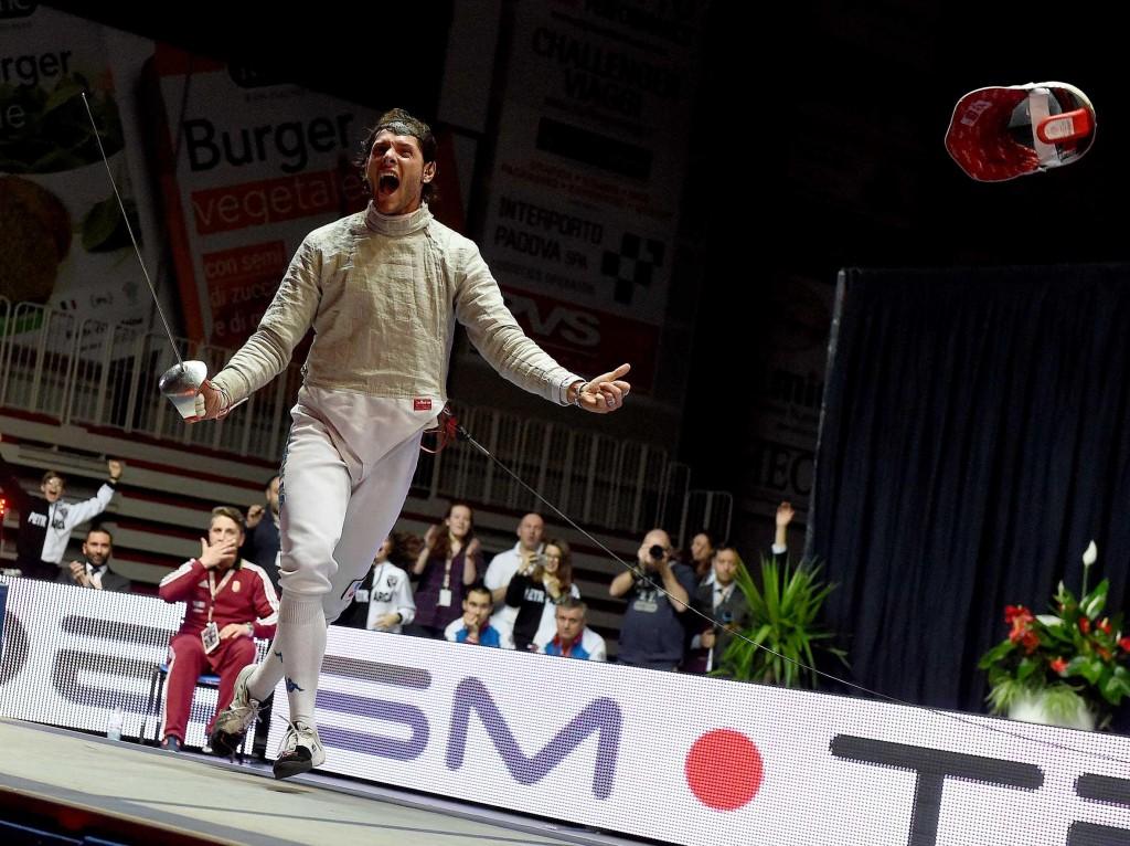 Padova 29/31 gennaio 2016 Sciabola Maschile TROFEO LUXARDO  nella foto: MONTANO Aldo Foto Augusto Bizzi