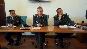 Da sinistra il tenente colonnello Bastone, il colonnello Borrelli e il capitano Scarselletta