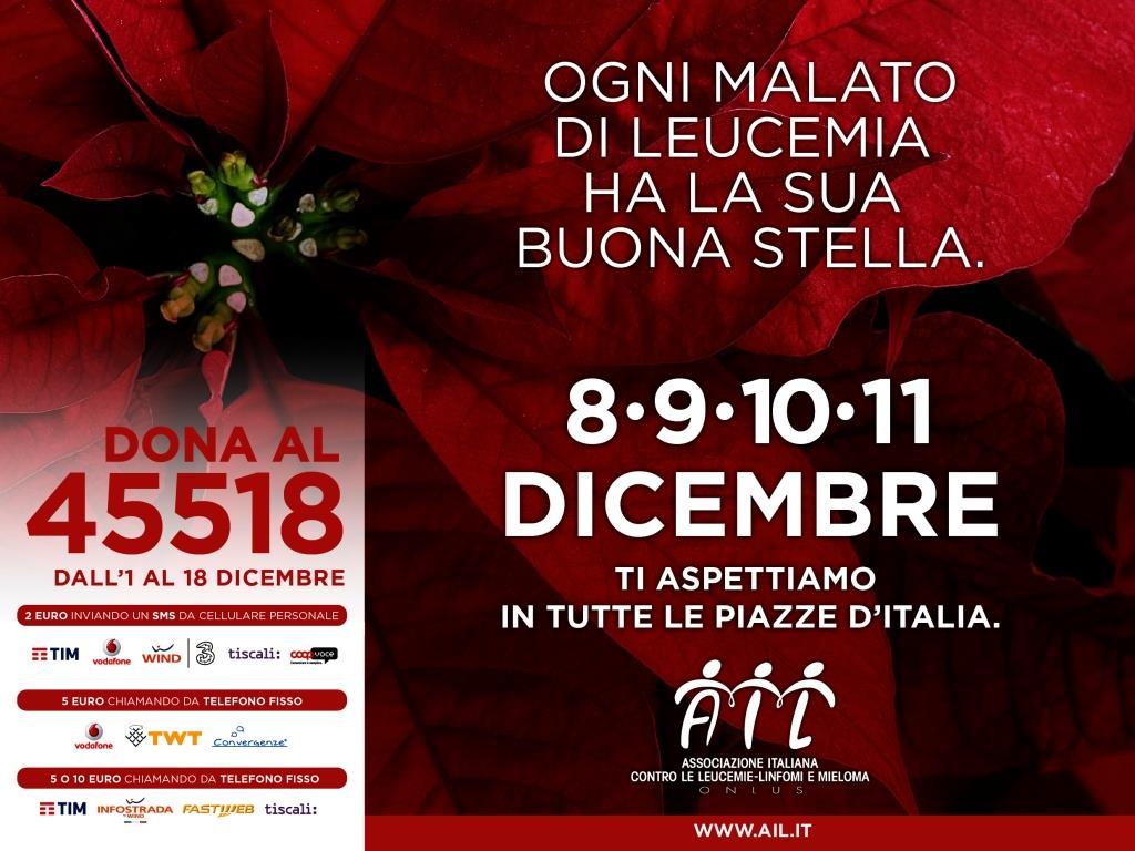 Stella Di Natale Piazze Italiane.Una Stella Di Natale Per Combattere La Leucemia Quilivorno It
