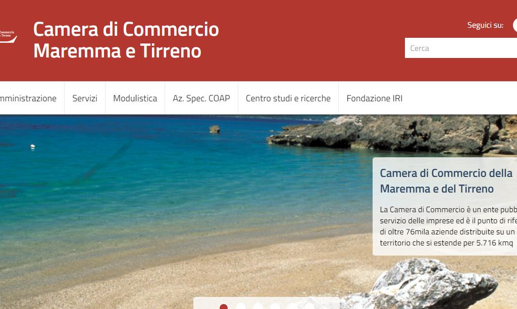 Online il nuovo sito della camera di commercio for Sito camera