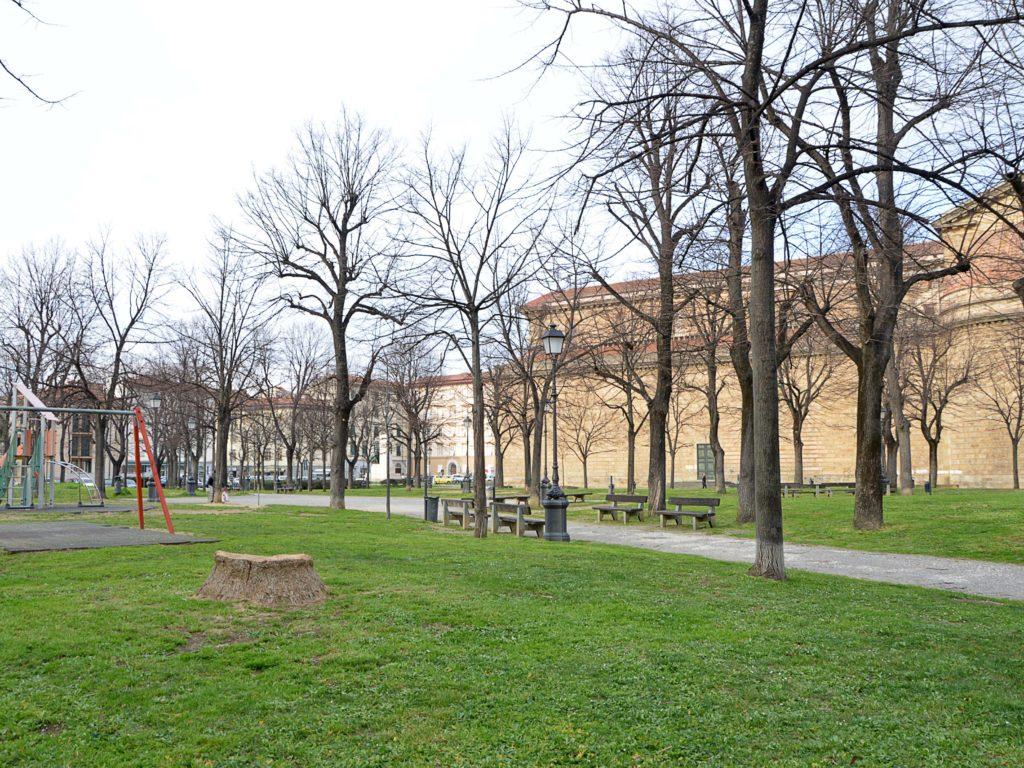 Piazza della Vittoria. Qui si è punto il bambino (foto Lanari)