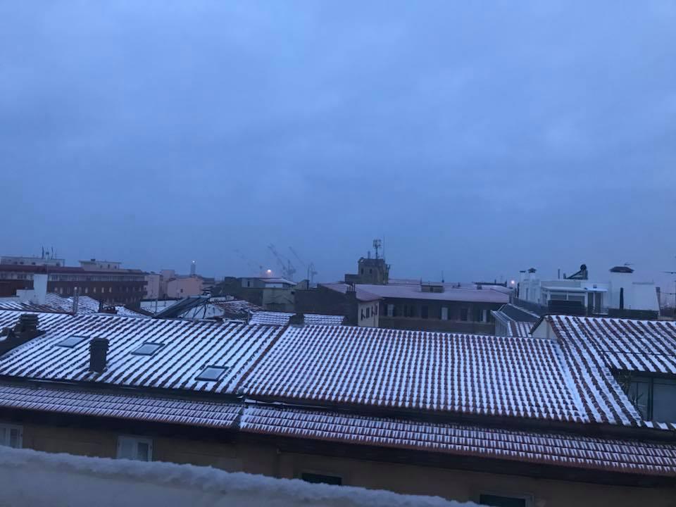 Tetti imbiancati a Livorno