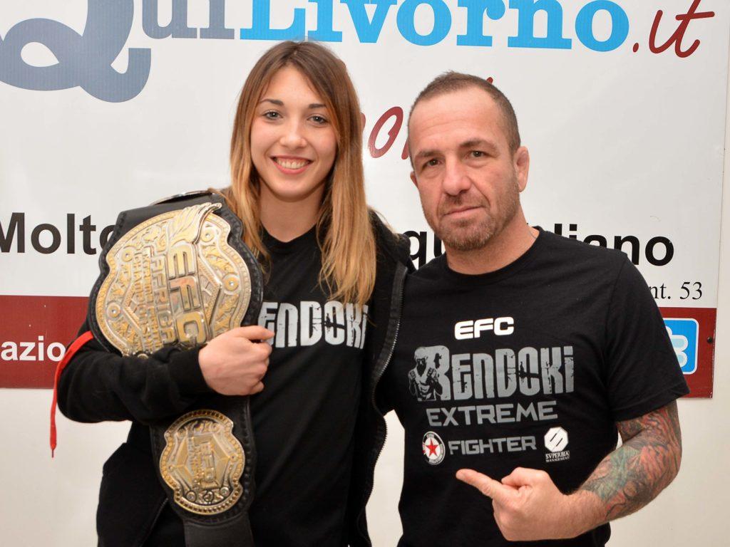 Chiara Penco campionessa mondiale MMA foto Simone Lanari