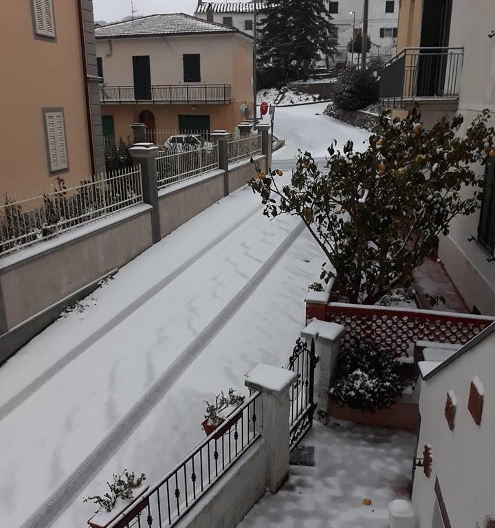 Neve a Rosignano Marittimo