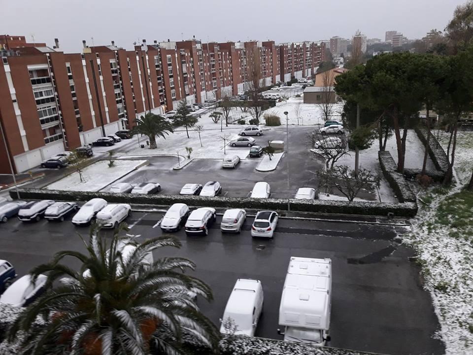Neve nel quartiere Scopaia