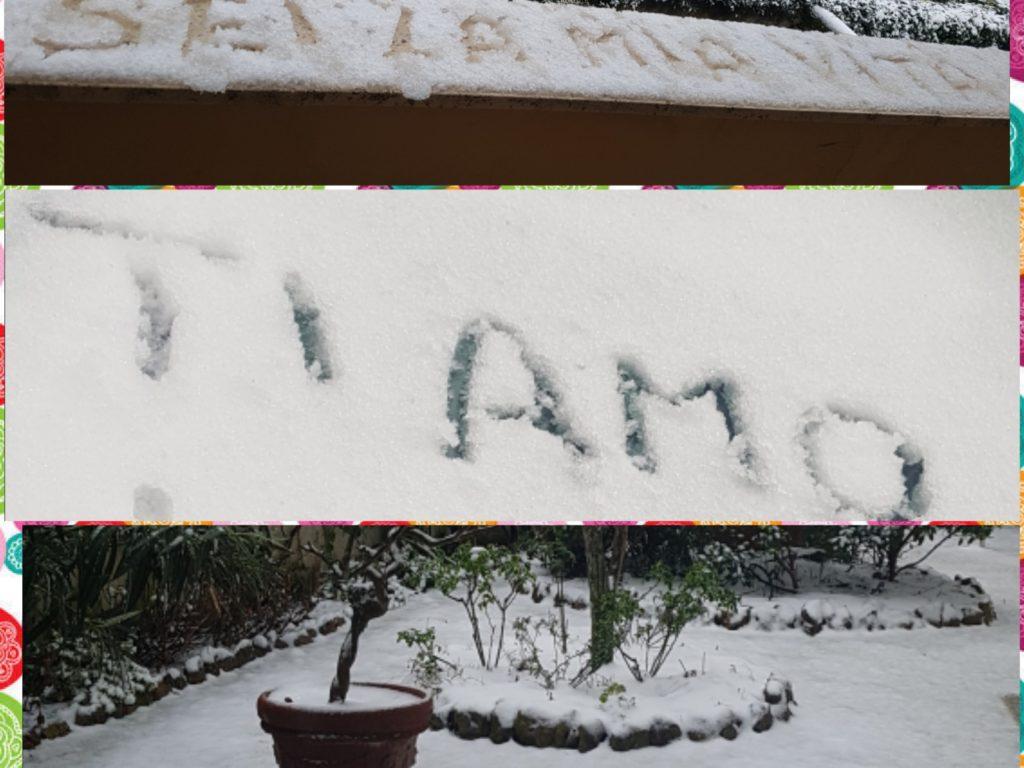 Dichiarazioni d'amore su neve