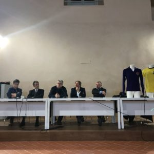 Da sinistra a destra: Emiliano Paperini, Francesco Ghio, Carlo Fontanelli, Fabio Discalzi, Marco Gargani