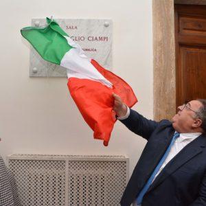 Intitolazione della Sala Consiliare della Provincia a Carlo Azeglio Ciampi foto Simone Lanari