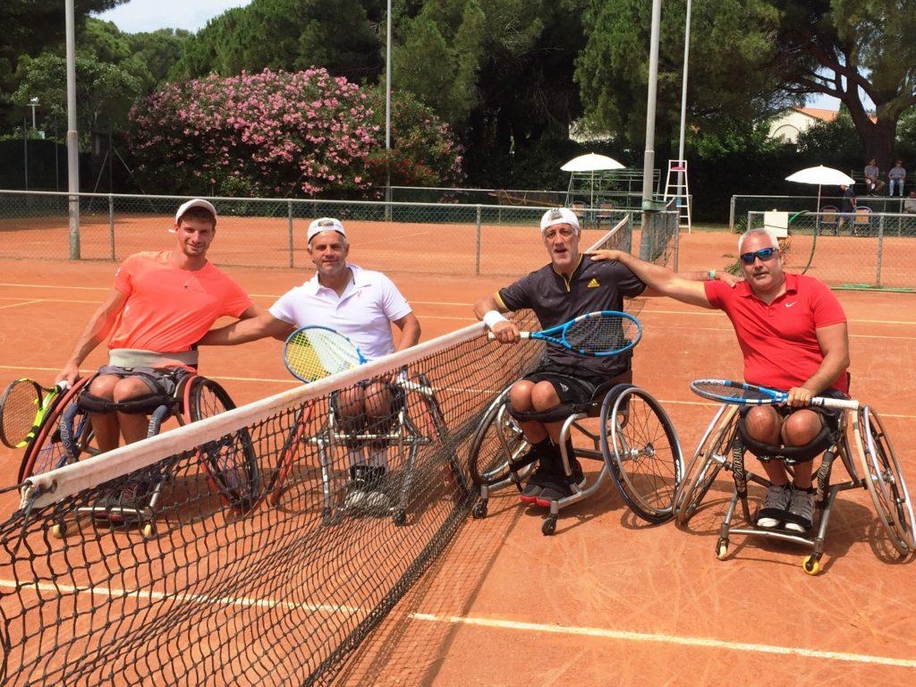 I finalisti del doppio - Da sn Ivan Tratter, Silviu Culea, Luca Spano e Massimiliano Banci