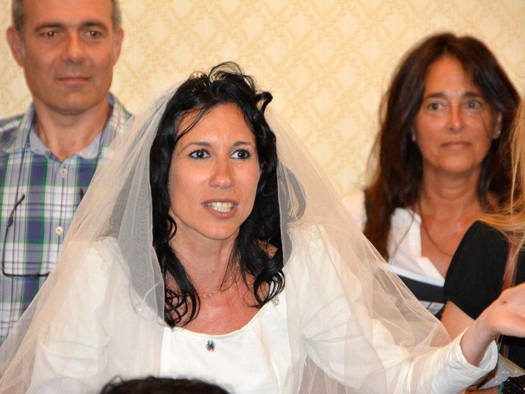 ALESSIA CESPUGLIO, INTERVENUTA DURANTE LA CONFERENZA STAMPA CON UN ABITO DA SPOSA, SARA' LA CONDUTTRICE DELLA MANIFESTAZIONE INSIEME A STEFANO SANTOMAURO (FOTO LANARI)