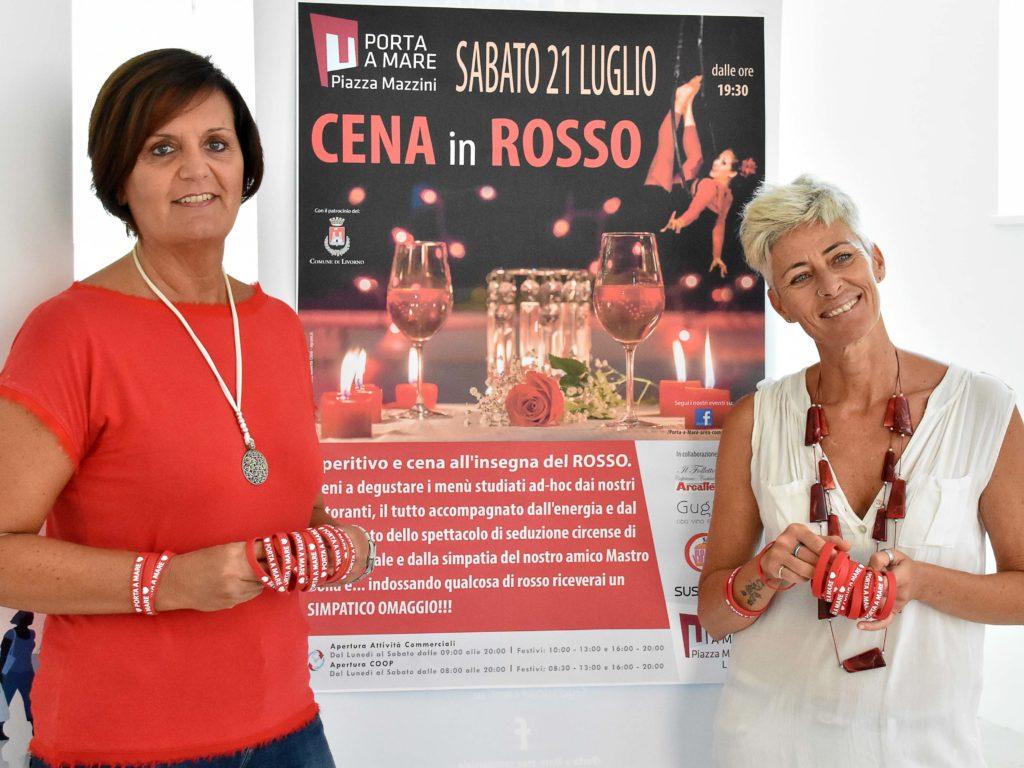 Cena in rosso foto Simone Lanari