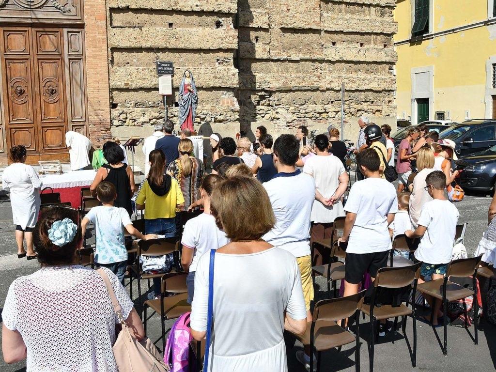 Messa all'aperto a Santa caterina foto Simone Lanari