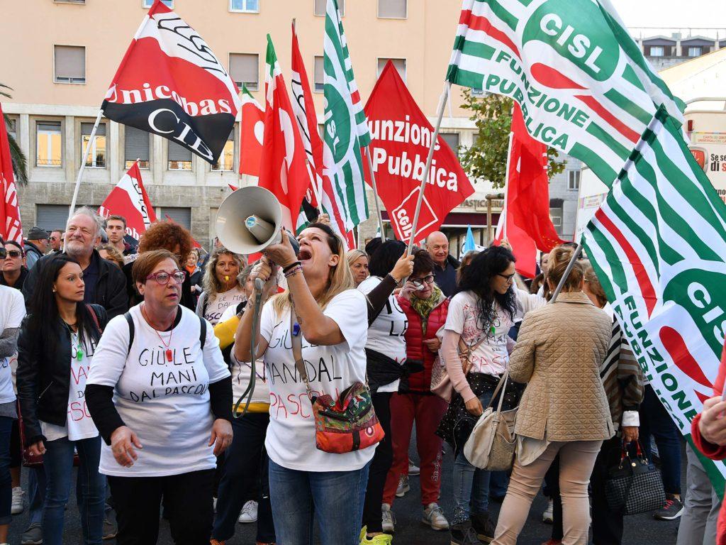 Protesta lavoratori Pascoli foto Simone Lanari