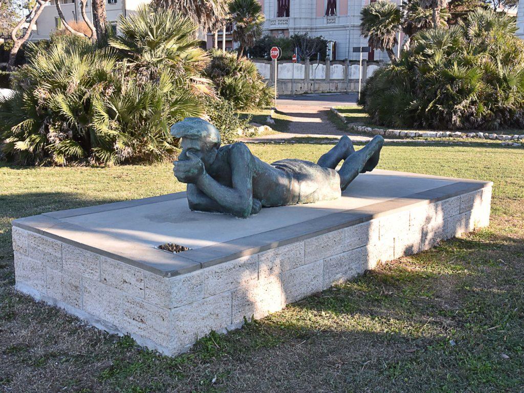 Restauro statua Pescatore foto Simone Lanari