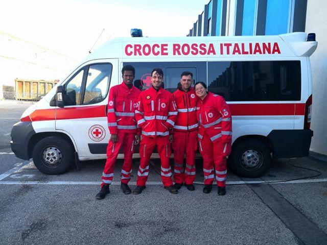 Croce Rossa Italiana in servizio il giorno di Natale