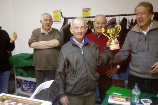 Paolo Blandina, 77 anni, trionfa nel secondo gruppo