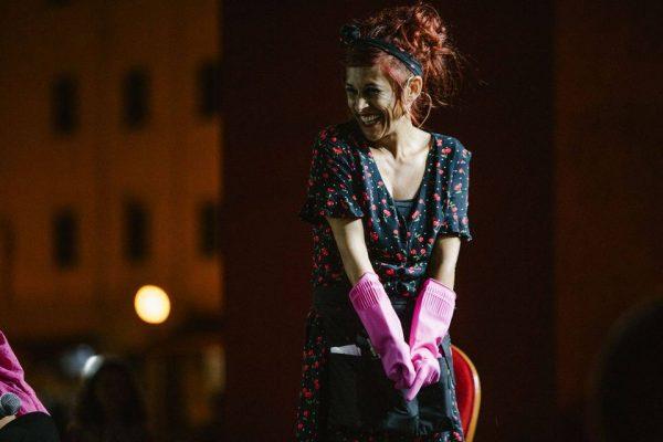 L'attrice Silvia Lemmi in uno scatto di Paolo Ciriello, Sebastiano Bongi Tomà, Lorenzo Amore Bianco © Comune di Livorno - Effetto Venezia