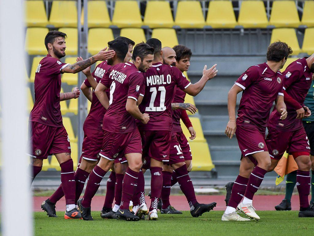Livorno squadra esultanza
